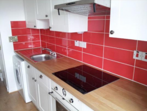 Kitchen splash Tiling job